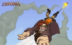 Picture Flight, Deponia, Rufus, Deponia