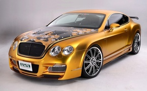 Wallpaper Bentley, Continental, gold, tuning