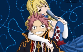 Picture girl, anime, art, two, Fairy Tail, The natz can, Fairy tail