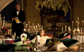 Picture New York, candles, drinks, mansion, New York, Leonardo DiCaprio, meals, Leonardo DiCaprio, The Great Gatsby, …