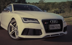 Picture audi, white, sportback, rs7