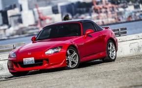 Picture The city, Promenade, Honda, Red, Honda, S2000, Seattle