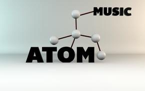 Wallpaper MUSIC, molecule, Atom