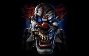 Picture face, cigar, clown, curative
