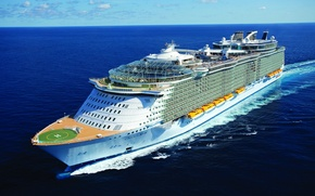 "Picture sea, wave, Oasis of the Seas, cruise ship, class Oasis, Wake, ""Oasis of the seas"""