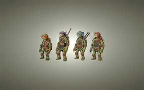 Picture light background, Rafael, TMNT, Raphael, Leonardo, Donatello, Donatello, Leonardo, Michelangelo, Teenage Mutant Ninja Turtles, Michelangelo, ...