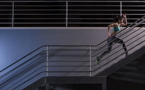 Wallpaper fitness, running, sportswear, workout, stairs