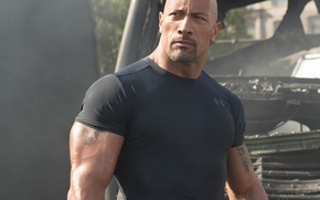 Picture USA, actor, american, Dwayne Johnson, Dwayne, pilot, strong, San Andreas, muscular, bald, 2015, during filming, …