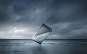 Picture sea, form, monolith