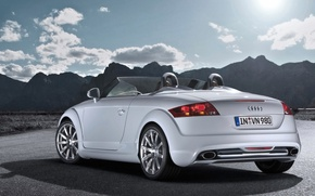 Picture mountains, Audi, convertible, clubsport, tt