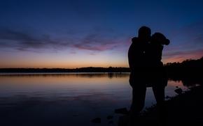 Picture girl, romance, male, kisses