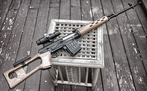 Picture weapons, sight, rifle, sniper, Dragunov