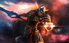 Picture magic, zipper, sword, armor, Warrior