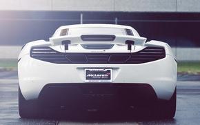 Picture white, supercar, white, supercar, back, McLaren, mp4-12c, Mclaren