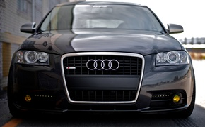 Picture Audi, Audi, tuning, black, tuning, the front, sline