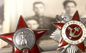 Picture photo, May 9, victory day, awards