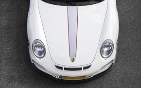 Picture white, lights, 911, 997, Porsche, the hood, white, Porsche, bumper, GT3, RS 4.0