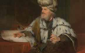 Picture portrait, picture, religion, mythology, Art de Gelder, King David