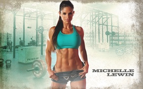 Picture model, fitness, abs, michelle lewin