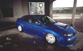 Picture water, puddle, subaru, impreza, Subaru, Impreza
