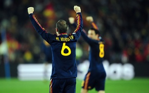 Picture Football, Barcelona, Leopard, Andres Iniesta, Andres Iniesta, Xavi Hernandes, Xavi Hernandez