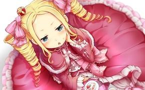 Picture girl, cake, tails, Beatrice, Re: Zero kara hajime chip isek or Seikatsu