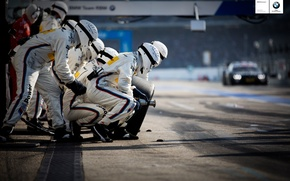 Picture BMW, racecar, team, 2013, pitstop