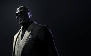 Picture look, costume, tie, jacket, killer, Black Mask, Batman: Arkham Origins, Warner Bros. Interactive Entertainment, supervillain, …