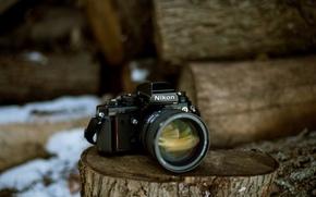Picture macro, background, camera, Nikon F3