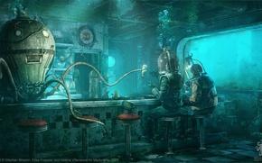 Picture octopus, divers, under water, Stéphan Brisson, Elise Frappier, Octopus Diner, Valerie Villeneuve
