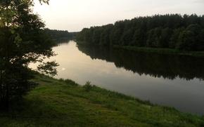 Picture forest, nature, river, the evening, Belarus, Vilia