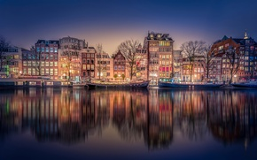 Picture night, channel, Amsterdam
