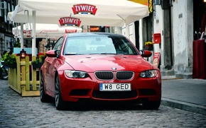 Wallpaper red, room, BMW, Poland, Warsaw, red, E92, Russia