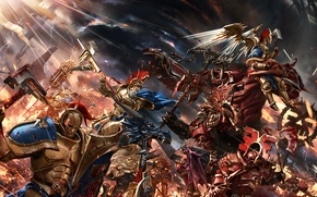 Picture fiction, war, battle, Warhammer, art, Warhammer Age of Sigmar, Gates of Azyr