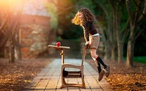 Picture joy, Apple, girl, schoolgirl, Parta, child photography, Hooray