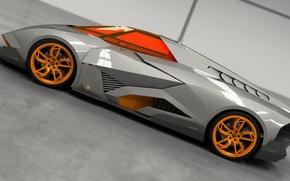 Picture Concept, Auto, Lamborghini, View, The concept, Car, Side, 2014, Egoista
