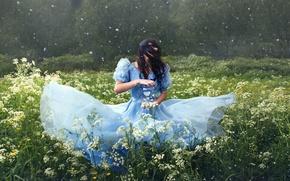 Picture flowers, mood, dress, meadow