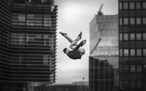 Picture the city, jump, flight, Dimitri Petrowski