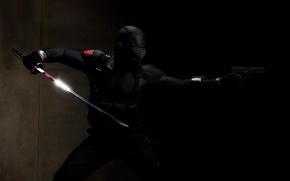 Picture gun, black, sword, ninza