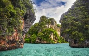 Picture sea, water, Islands, Paradise, Thailand, Krabi