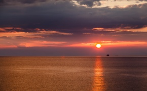 Picture sunset, Italy, Italy, Gulf of Genoa, Genoa Bay