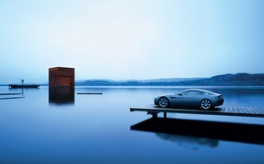 Picture sea, water, landscape, machine, the ocean, view, the evening, cars