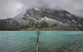 Picture the sky, clouds, mountains, clouds, lake, Canada, Albert, Lake Louise