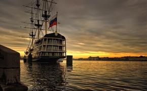 Wallpaper Peter, ship, river, Saint Petersburg