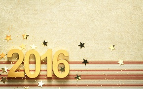 Picture New Year, figures, golden, New Year, Happy, 2016