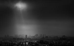 Picture Paris, storm, France, sunray