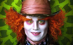 Wallpaper Johnny Depp, mad, Hatter