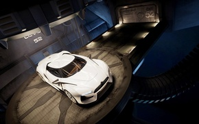 Picture machine, white, citroen gt, concept car