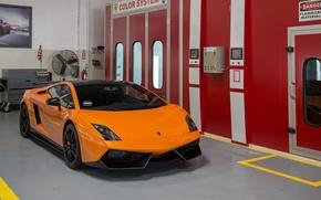 Picture Lamborghini, Orange, Gallardo, Box