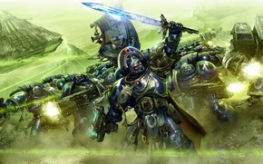 Picture battle, Warhammer 40k, monolith, ultramarines, Ultramarines